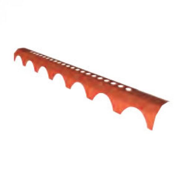 Closoir rigide Funiprofil Plein Ciel, long 1,03 m Rouge, lot de 20