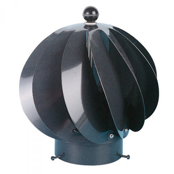 Extracteur eolien anti-refouleur Aspiromatic Sebico gris ⌀100 mm