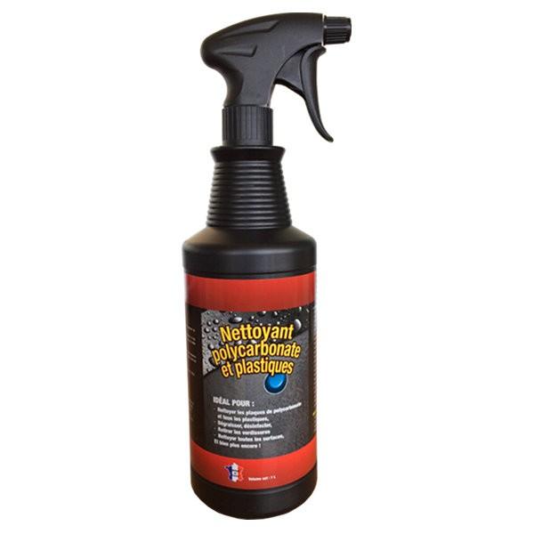 Nettoyant polycarbonate et plastiques multi usages, spray de 1 litre