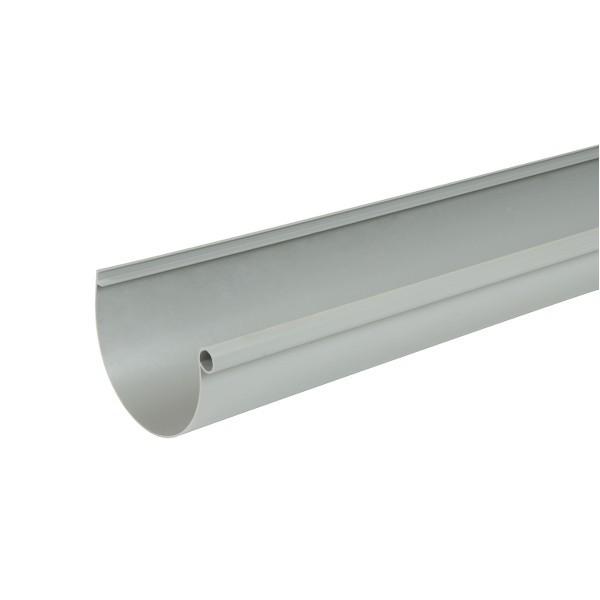 Gouttière PVC demi-ronde à coller Gris Nicoll, dev 25 cm, long. 4m
