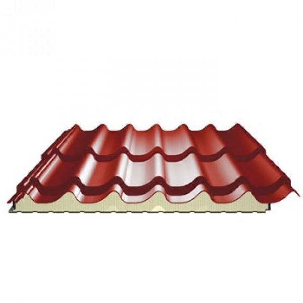 panneau tuile isol pour couverture ep 40 mm couleur terracota toiture. Black Bedroom Furniture Sets. Home Design Ideas