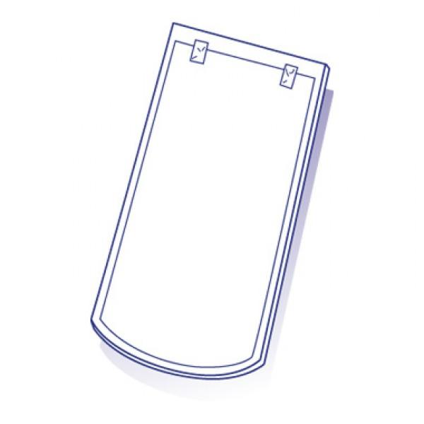Tuile de verre Meursault 18/38 ou plate, ref LR n°112, en carton de 10 U