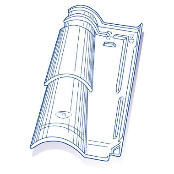 Tuile de verre romane canal tbf ref 31 8 pces toiture for Tuile tbf romane canal