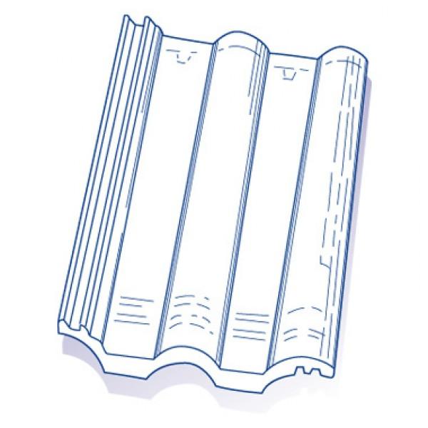 tuile de verre grande romane tmb ref 59 par 6 toiture. Black Bedroom Furniture Sets. Home Design Ideas