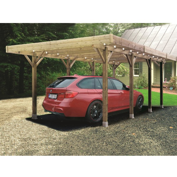 carport bois modulable 4 x 5 m solid toiture. Black Bedroom Furniture Sets. Home Design Ideas