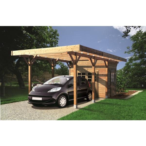 carport bois modulable 3 x 5 m solid toiture. Black Bedroom Furniture Sets. Home Design Ideas