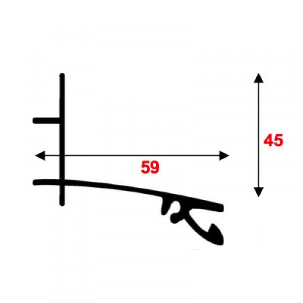Kit Faitière supérieure - Alu - 55 mm - Longueur de 3 m à 7 m