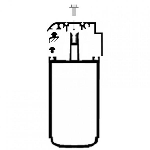kit rive profil tube 121 capot 32 mm alu longueur. Black Bedroom Furniture Sets. Home Design Ideas