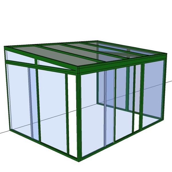 v randa en kit isolation renforc e 4 m x 3 m veranda en kit veranda et pergola en kit. Black Bedroom Furniture Sets. Home Design Ideas