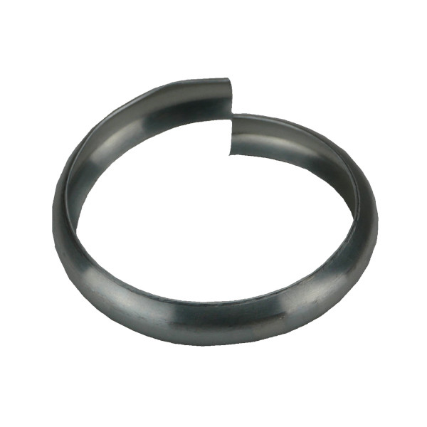 Bague Simple Extensible Sans Bord en Zinc Naturel, diam 80 mm