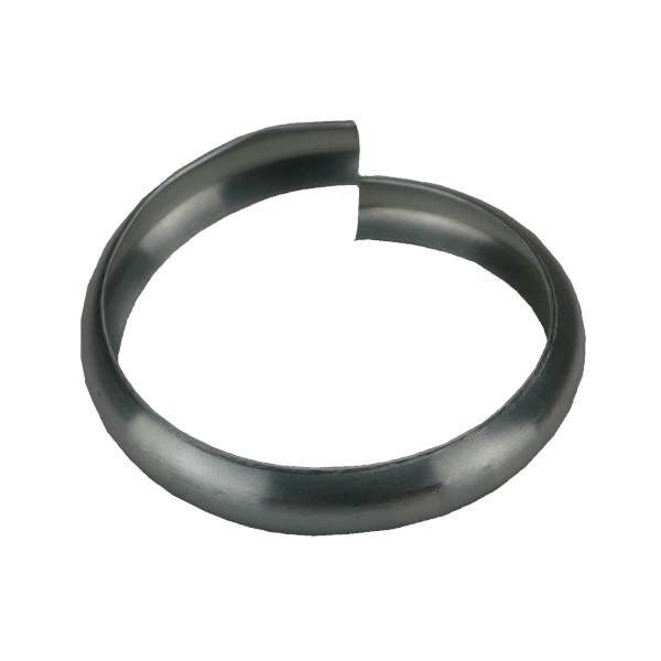Bague Simple Extensible Sans Bord en Zinc Naturel, diam 100 mm