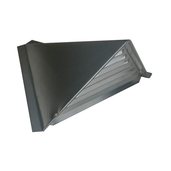 Chatière Triangulaire en Zinc Naturel pour Ventilation Couverture