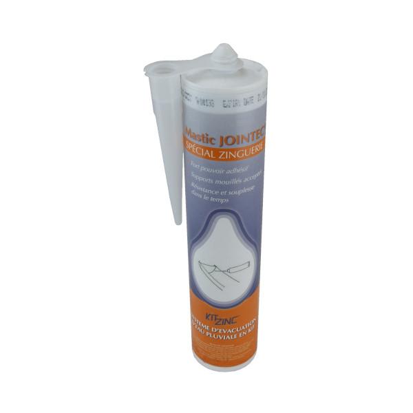 Mastic Jointec Gris pour Fixation Eléments de Gouttière Zinc, 290 ml