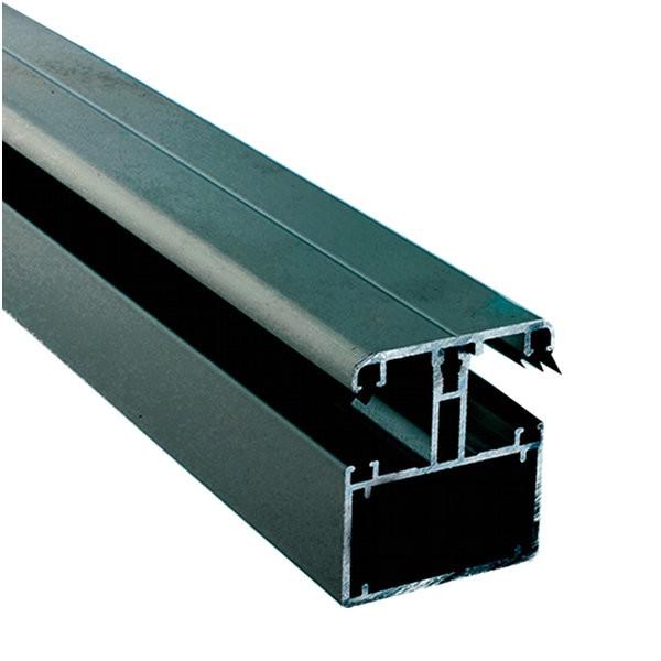 Kit Jonction Profil Tube 60 + Capot - 55 mm - Gris - Longueur 3 à 4 m