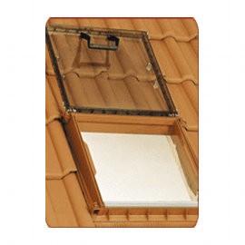 Châssis lucarne de toit en PVC coloris brun