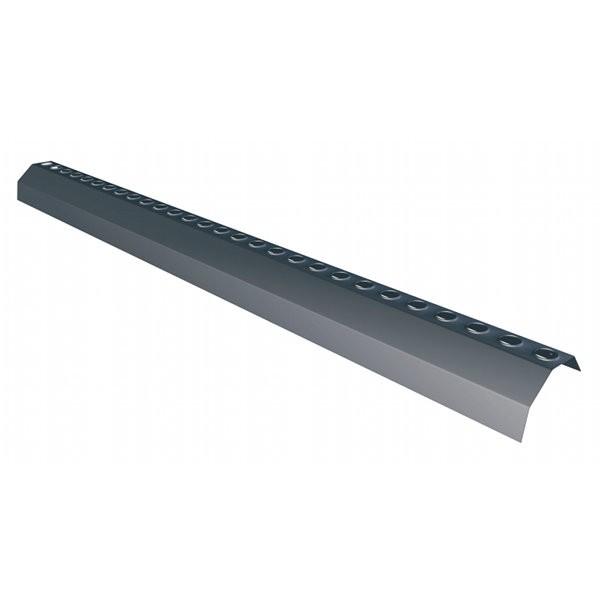 Liteau d'égout ventilé noir Monier, longueur 1 m/hauteur 3 cm, par 20