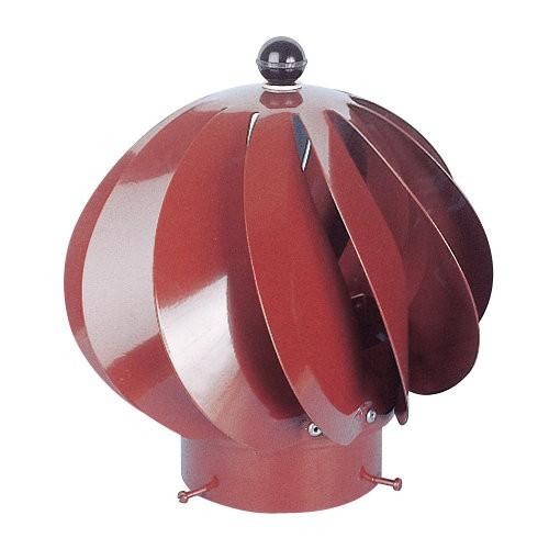 Extracteur eolien anti-refouleur Aspiromatic Sebico brun tuile ⌀100 mm