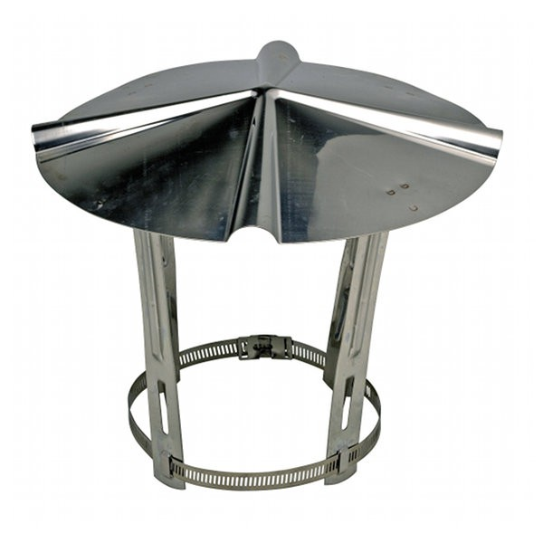 Chapeau chinois Sebico en inox, conduits de ⌀ 153 à 180 mm
