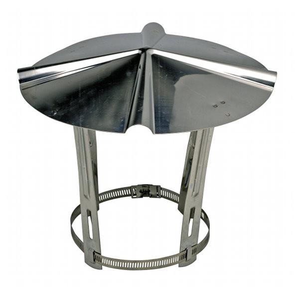 Chapeau chinois Sebico en inox, conduits de ⌀ 111 à 140 mm