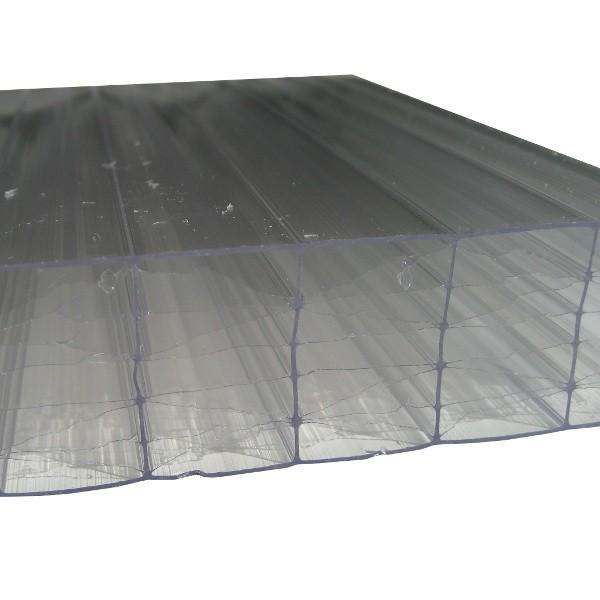 plaque polycarbonate alv olaire claire 55 mm 1 25 m longueur de 2 7 m polycarbonate. Black Bedroom Furniture Sets. Home Design Ideas
