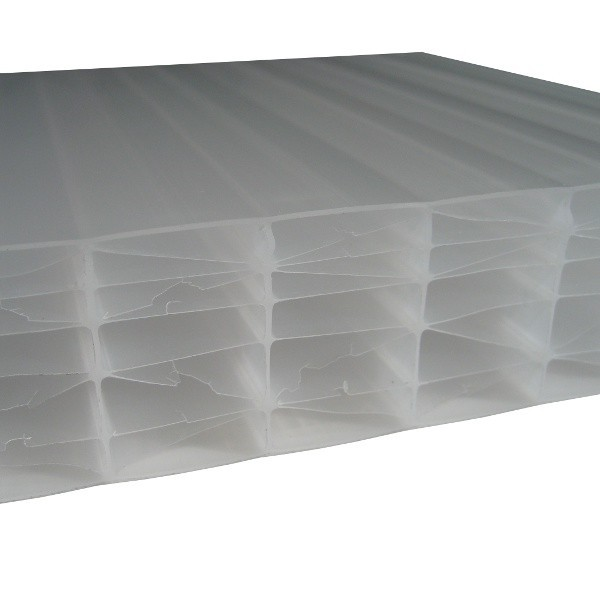 Plaque polycarbonate alv olaire opale 55 mm 1 25 m for Plaque polycarbonate alveolaire prix