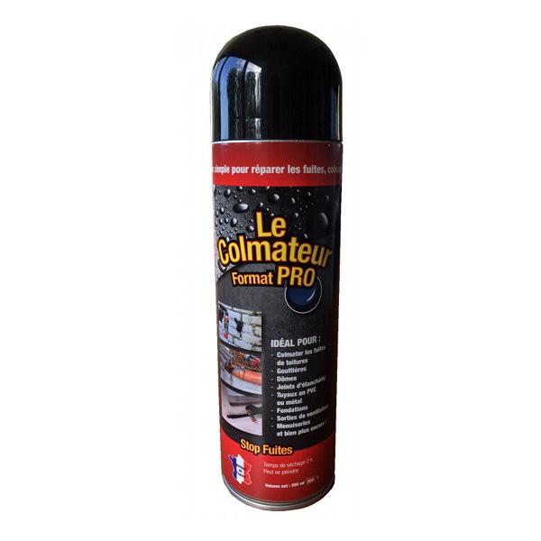 Le Colmateur Pro bitume en spray pour étanchéité, bouteille de 650 ml