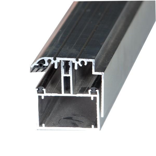 Kit Rive Profil Tube 60 + Capot - 55 mm - Blanc - Longueur de 2 m à 7 m
