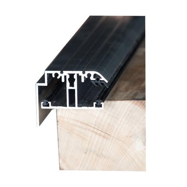 Kit rive profil t capot 16 mm alu longueur de 2 m for Profile alu pour veranda