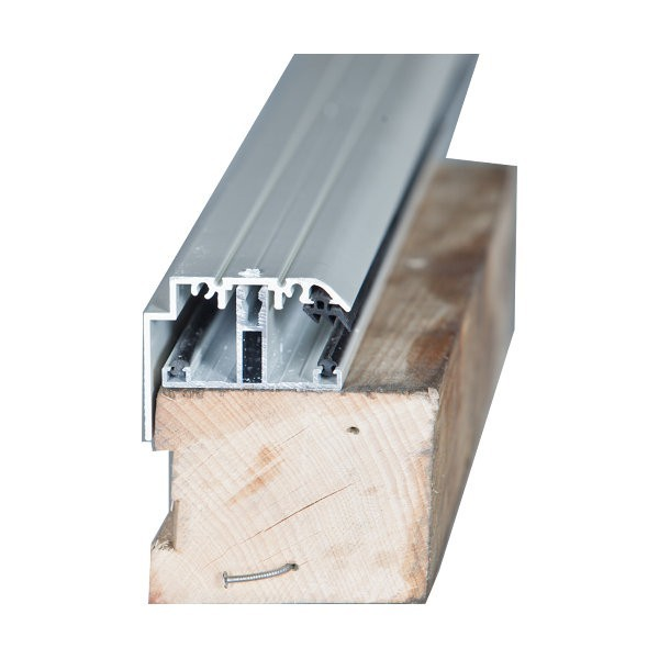 Kit Rive Profil T + Capot - 55 mm - Blanc - Longueur de 2 m à 7 m