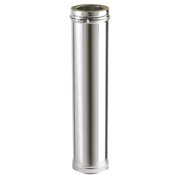 Conduit Cheminée en Inox Double Paroi Isolé Element 1250 mm Ø153mm