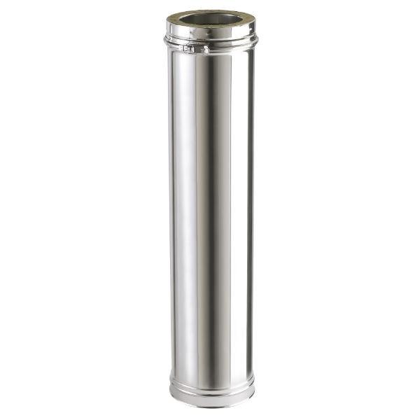 Conduit Cheminée en Inox Double Paroi Isolé Element 1000 mm Ø180mm
