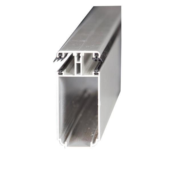 Kit Jonction Profil Tube 121 + Capot - 55 mm - Alu - Longueur 2 à 7 m