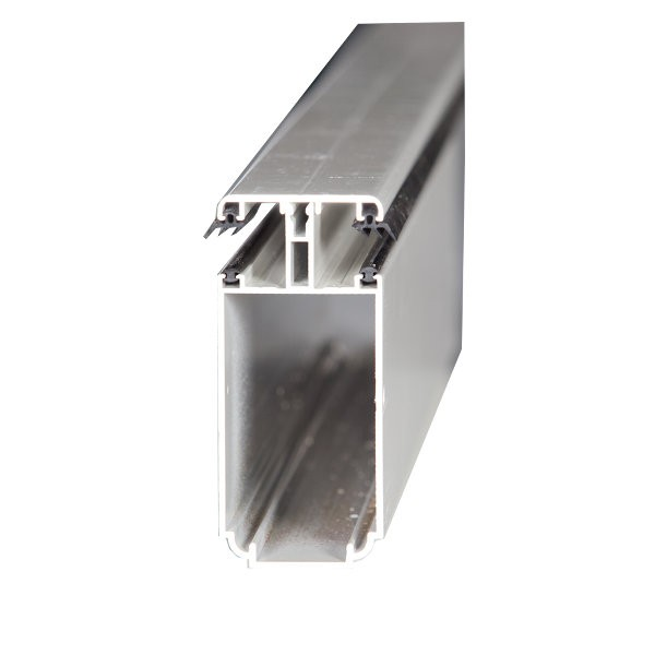 Kit Jonction Profil Tube 121 + Capot - 55 mm - Blanc - Longueur 2 à 7 m