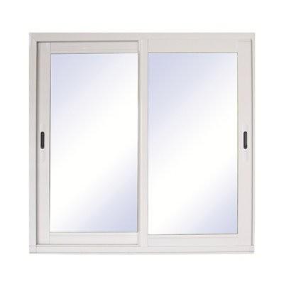 Baie vitrée coulissante en aluminium blanc, 215 x 180 cm