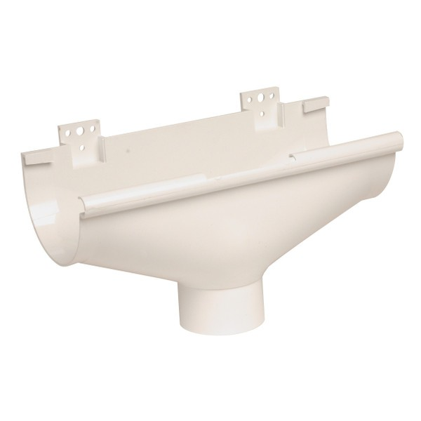 Naissance centrale à dilatation Gouttière PVC Blanc Nicoll d25 diam 80