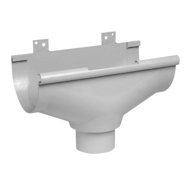 Naissance centrale à dilatation Gouttière PVC Gris Nicoll d33 diam 100