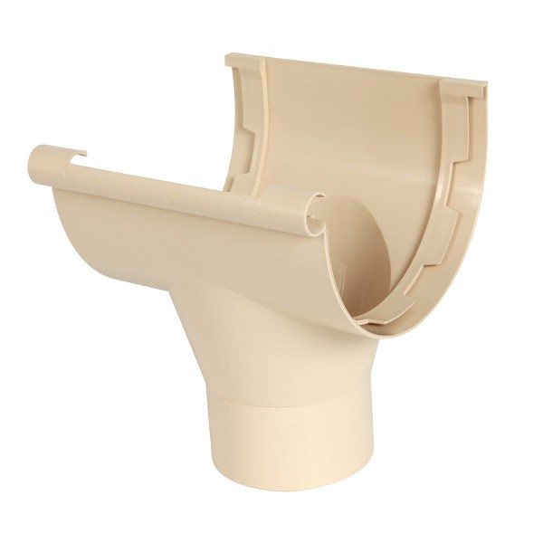 Naissance centrale pour Gouttière PVC à coller Sable Nicoll, dev 25 cm