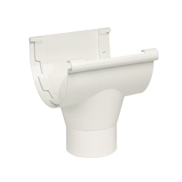 Naissance centrale pour Gouttière PVC à coller Blanc Nicoll, dev 25 cm
