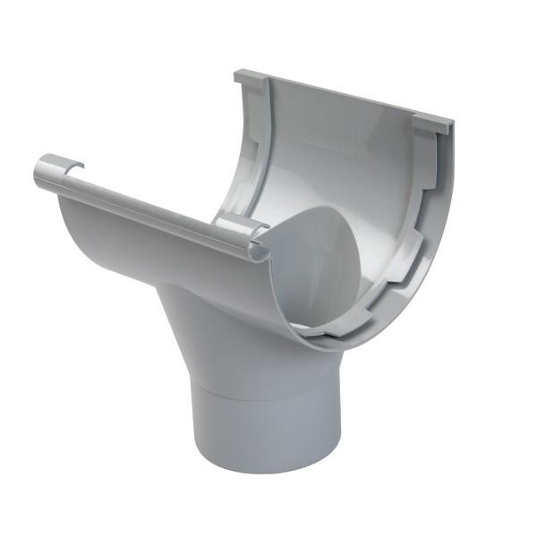 Naissance centrale pour Gouttière PVC à coller Gris Nicoll, dev 33 cm