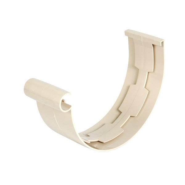 Jonction PVC à coller pour Gouttière demi ronde Sable Nicoll dev 25 cm