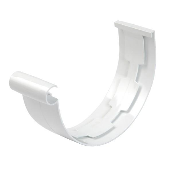 Jonction PVC à coller pour Gouttière demi ronde Blanc Nicoll dev 25 cm