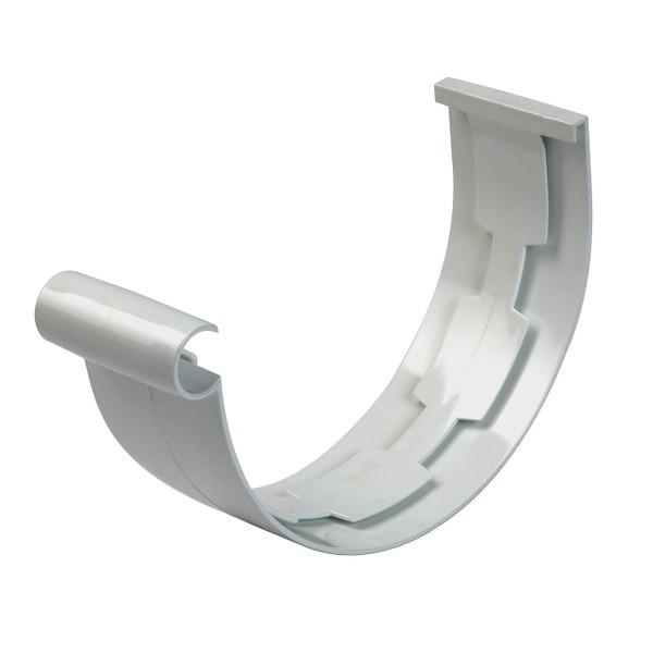Jonction PVC à coller pour Gouttière demi ronde Gris Nicoll dev 25 cm