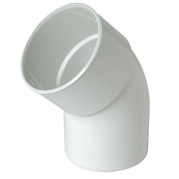 Coude PVC M-F 45° à coller pour Gouttière Blanc Nicoll, diam 80 cm