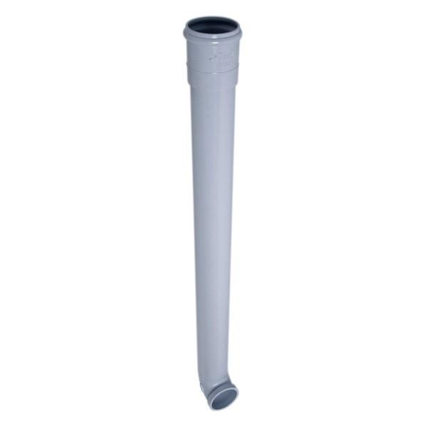 Dauphin PVC Coudé Gris pour Gouttière Nicoll diam 80, L 1 m