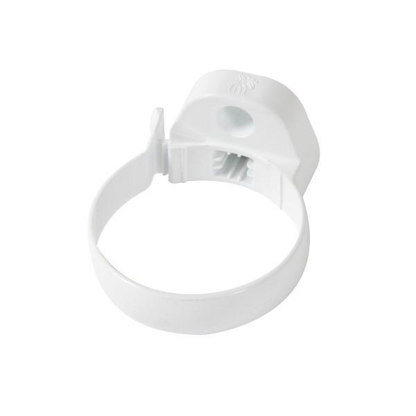 Collier PVC à bride D80 Blanc descente de Gouttière Nicoll