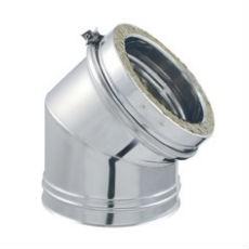 Coude 15° pour Conduit de Cheminée en Inox Double Paroi Isolé Ø180mm