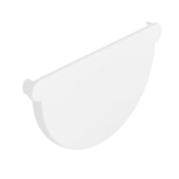 Fond de Gouttière PVC demi ronde à coller Blanc Nicoll dev 25