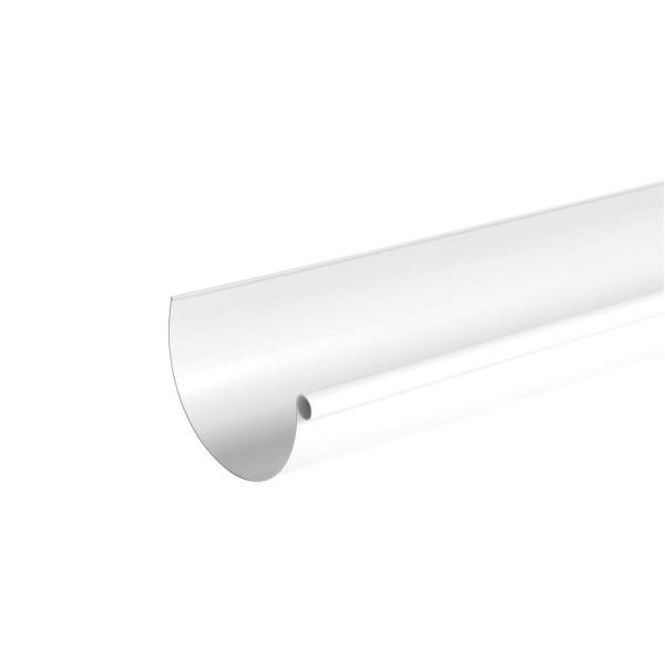 Gouttière PVC demi-ronde à coller Blanc Nicoll, dev 33 cm long. 4m