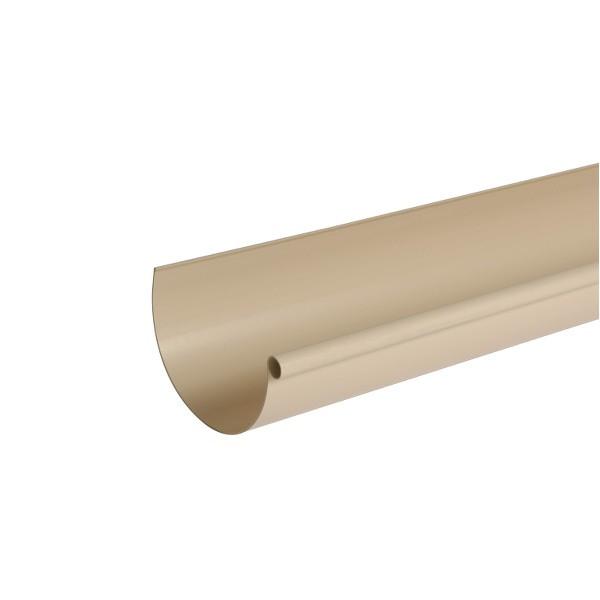 Gouttière PVC demi-ronde à coller Sable Nicoll, dev 33 cm long. 4m