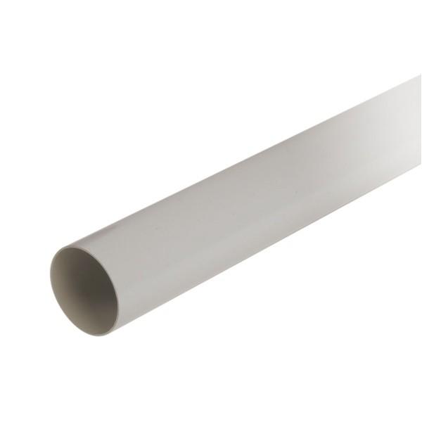 Tuyau de descente pour gouttière PVC Gris Nicoll, Diam100 cm, L 4 m